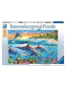 Пазл Бухта дельфинов (500 деталей) Ravensburger/Равенсбургер
