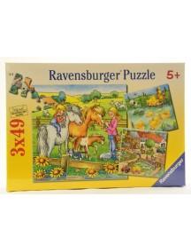 Пазл На ферме (3*49 деталей) Ravensburger/Равенсбургер