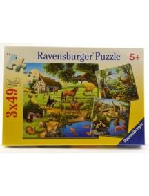 Пазл Животные (3*49 деталей) Ravensburger/Равенсбургер