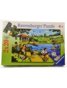 Пазл Развлечения в парке (2*20 деталей) Ravensburger/Равенсбургер