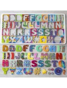Счастливая Латиница 60 букв рус , доп 33 лат. (69 букв полной азбуки),29 знаков и фигурок,3 сортера-трафарета,книжка-раскраска
