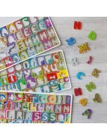 Счастливая Латиница+Цифры 60 б. рус азбуки, доп33 б. лат(69 букв лат азбуки),12 цифр,39 знаков 4 сортера-трафарета,книжка-раск