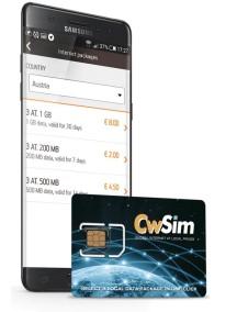 CwSim - (инновационная) SIM-карта без роуминга и привязки к одному мобильному оператору.