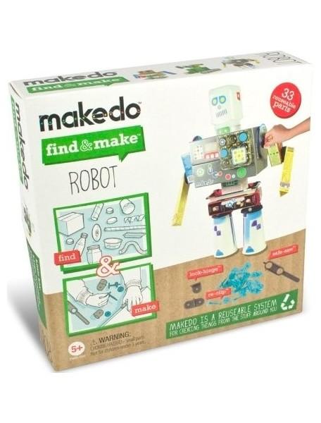 Конструктор MAKEDO FM01-002 Подумай и сделай робота, 33 детали