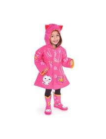 Плащ дождевик Счастливая кошечка Kidorable (Кидорабл) розовый