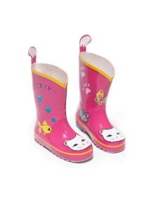 Сапоги резиновые детские Счастливая кошечка Kidorable (Кидорабл) р.29, US12, стелька 190мм, розовый
