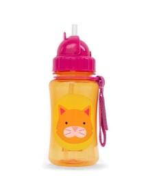 """Поильник с трубочкой детский """"Кот"""" Skip Hop Zoo Straw Bottle"""