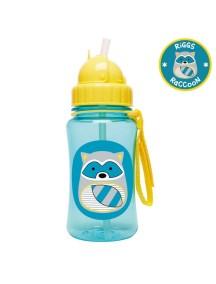 """Поильник с трубочкой детский """"Енот"""" Skip Hop Zoo Straw Bottle"""