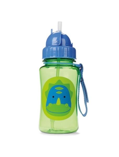 Детский поильник Skip Hop Zoo Straw Bottle - Динозавр