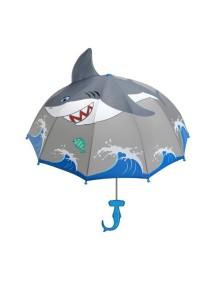 Детский зонт-трость Kidorable  (Кидорабл) Акула, купол 68см, серый
