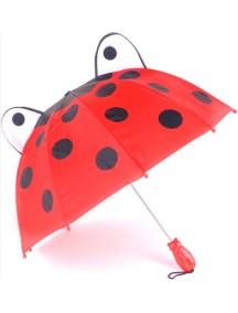 Детский зонт-трость Kidorable (Кидорабл) Божья Коровка, купол 68см, красный