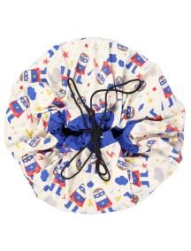 Мешок для хранения игрушек и игровой коврик Play&Go 2 в 1. Коллекция Designer. Супергерой