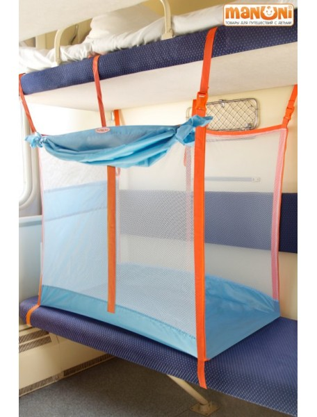 ЖД-манеж в поезд для детей Manuni от 3 лет (3+шторка)