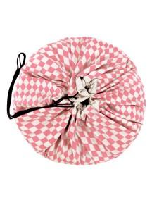 Мешок для хранения игрушек и игровой коврик Play&Go 2 в 1. Коллекция Print. Розовый бриллиант