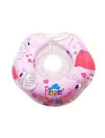 """Flipper - музыкальный круг на шею для купания малышей """"Лебединое озеро"""" / Розовый"""