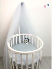 MARELE Балдахин для кроватки Ellipsebed, цвет серо-голубой