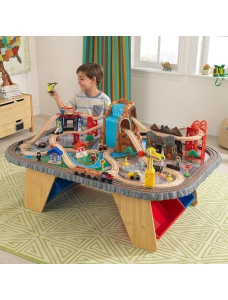 "Игровой набор ""Горный тоннель"" + стол (Waterfall Junction Train Set & Table) KidKraft (Кидкрафт)"