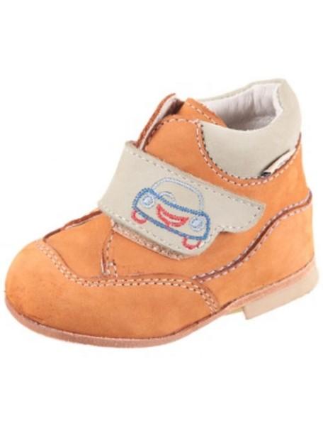 Детские ботиночки Котофей, 21, бежевый-оливковый (24)