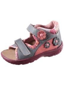 Детские туфли Котофей, р.28, серый-розовый