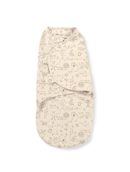"""Конверт для пеленания Summer Infant """"SwaddleMe Organic"""", S/M, 55180 / кремовый/зайчики"""