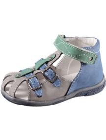 Детские туфли Котофей, р.22, синий-серый