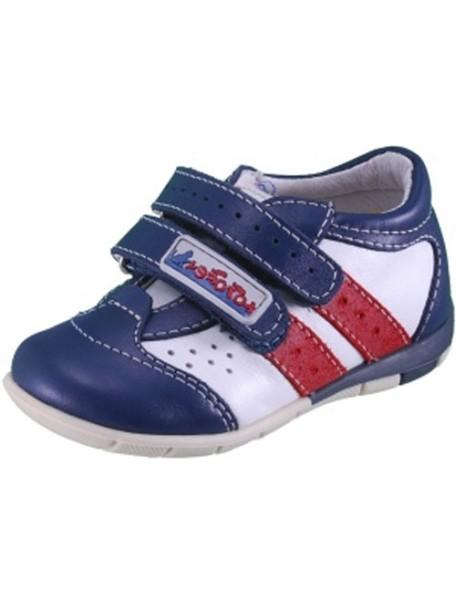 Детские ботиночки Котофей, 20, синий-белый (22)