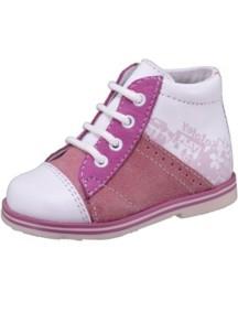 Детские ботиночки Котофей, р.22, белый-розовый