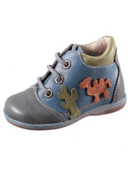 Детские ботиночки Котофей, 22, синий-сереневый (22)