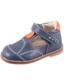 Детские туфли Котофей, р.21, синий-оранжевый