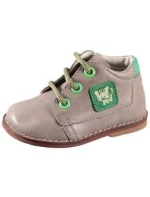 Детские ботиночки Котофей, р.19, серый-зеленый