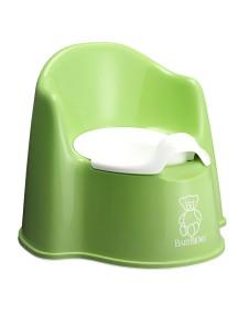 Горшок-кресло BabyBjorn, 81 / Зеленый с белой резинкой