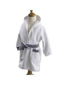 "Махровый халат Red Castle ""Bathrobe"", 030518 / White-Grey"