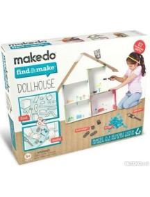 Конструктор MAKEDO Подумай и сделай кукольный домик, 57 деталей