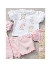 """Комплект футболка + шорты Jacky """"BABY`S DAY GIRL"""", 62"""