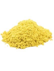 Пластичный (кинетический) песок - Песочница+формочки 1 кг., КП02Ж10Н / Желтый
