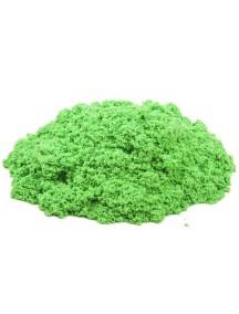 Пластичный (кинетический) песок - Песочница+формочки 1 кг., КП03З10Н / Зеленый