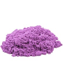 Пластичный (кинетический) песок - Песочница+формочки 1 кг., КП06С10Н / Сиреневый
