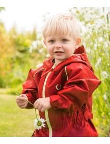 Непромокаемый универсальный мембранный комбинезон Хиппичик (весна-лето-осень) рубиновый без подкладки