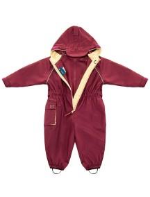 Детский непромокаемый мембранный комбинезон Хиппичик (весна-лето-осень) бургунди без подкладки
