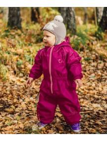 Детский универсальный непромокаемый мембранный комбинезон Хиппичик (весна-лето-осень) ВИШНЕВЫЙ без подкладки