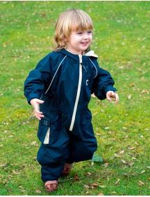 Детский непромокаемый УТЕПЛЕННЫЙ мембранный комбинезон Хиппичик (весна-лето-осень) Полуночно-синий с флисом