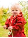 Детский утепленный непромокаемый УТЕПЛЕННЫЙ мембранный комбинезон Хиппичик (весна-лето-осень) РУБИНОВЫЙ с флисом