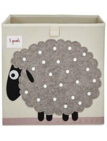 Коробка для хранения 3 Sprouts «Бежевая овечка »