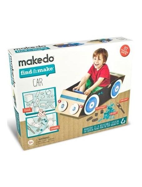 Конструктор MAKEDO FM01-004 Подумай и сделай автомобиль, 57 деталей