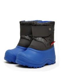 Детские сноубутсы с мехом на липучке (до -15°) Nordman Joy р. 30,34 / комбинированные из ЭВА, сине-серые (Нордман Джой)