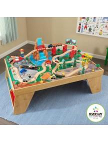 "Игровой набор ""ЖД станция"" (Waterfall Station Train Set & Table In Natural) KidKraft (Кидкрафт)"