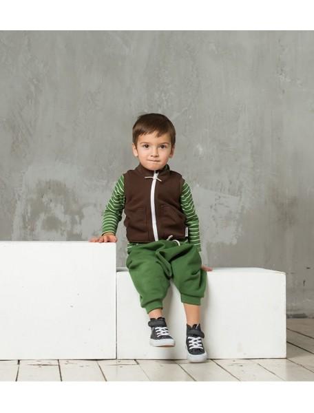 Жилет из футера детский, Шоколад (БАМБИНИЗОН / Bambinizon)