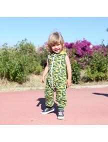 Комбинезон из футера без рукавов детский, Милитари (БАМБИНИЗОН / Bambinizon)