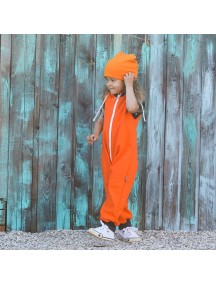 Комбинезон из футера без рукавов детский, Оранж (БАМБИНИЗОН / Bambinizon)
