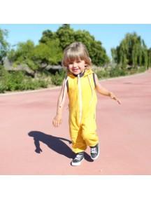 Комбинезон из футера без рукавов детский, Солнечный (БАМБИНИЗОН / Bambinizon)